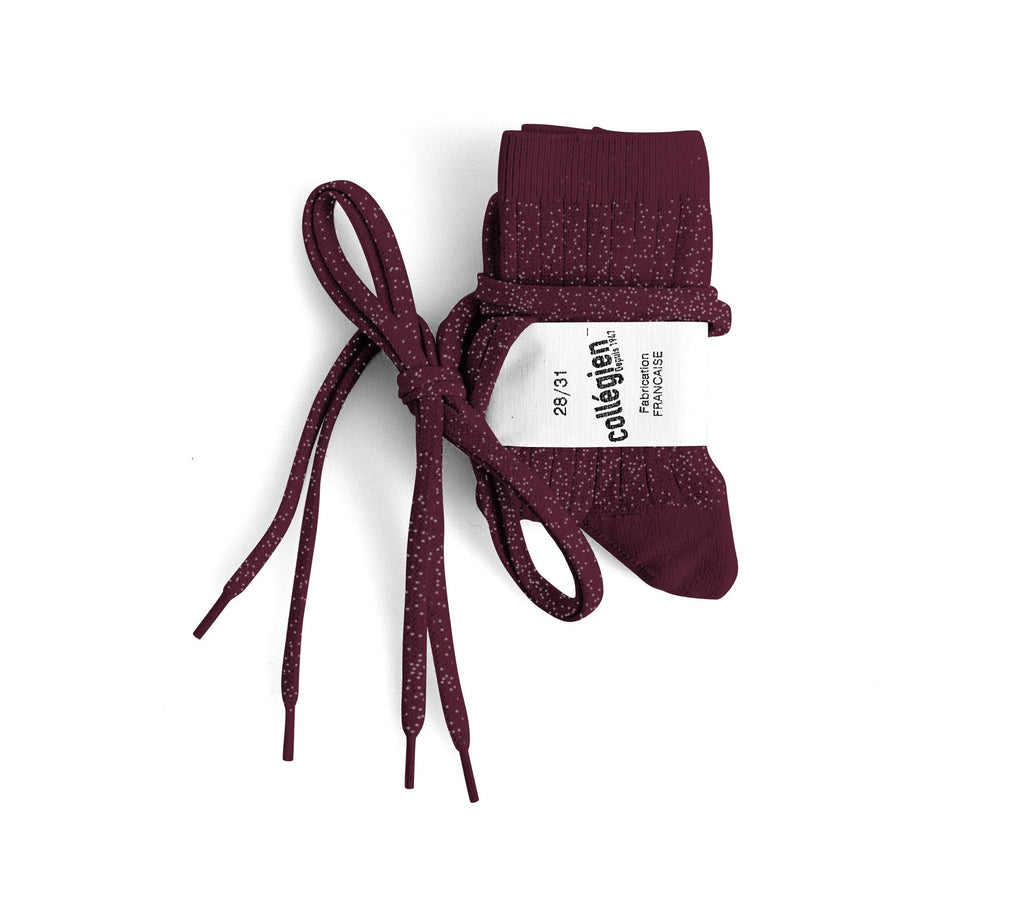 Brillantes socks with flat laces - Marsala