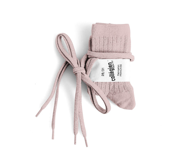 Brillantes socks with flat laces - Rose Quartz