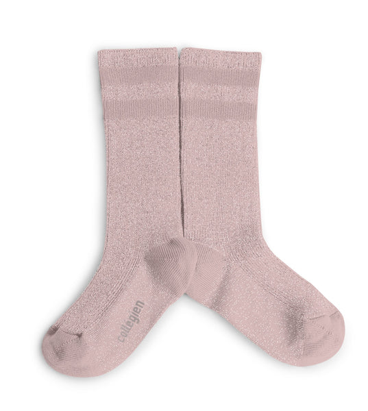 Sport Chic Striped High Socks - Rose Quartz
