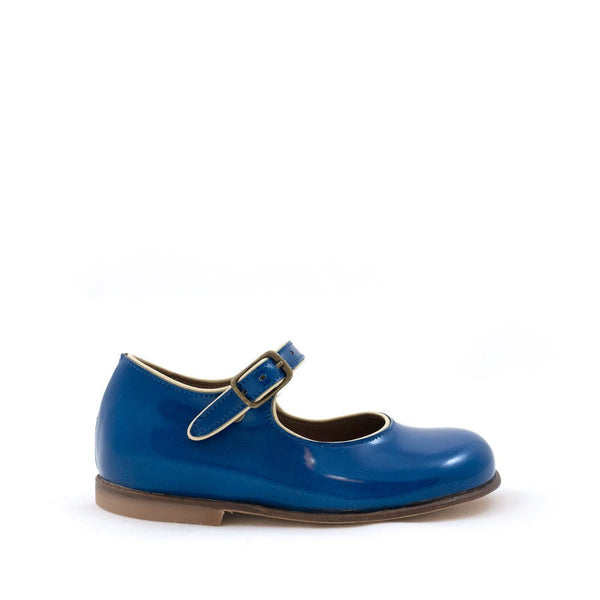 Blue Patent Mary Jane