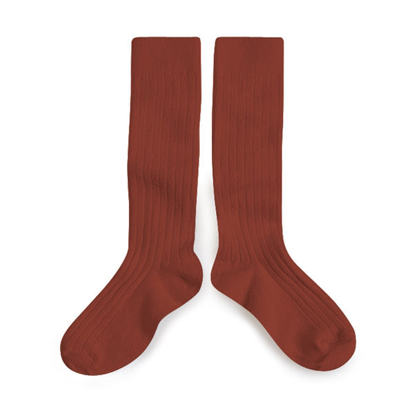 Ribbed Knee High Socks - Tomette