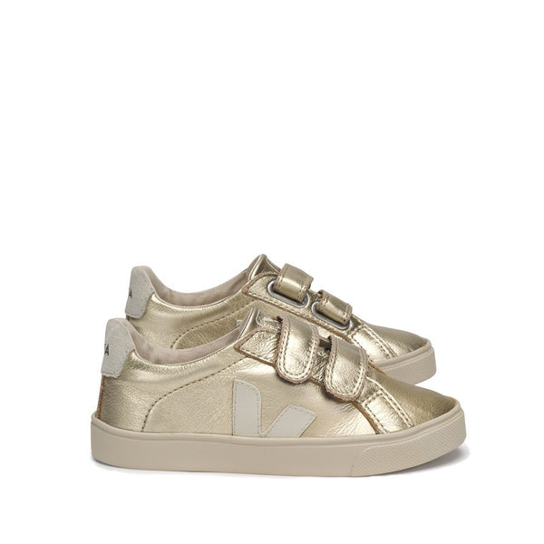 Esplar Velcro Leather Lined Gold Pierre