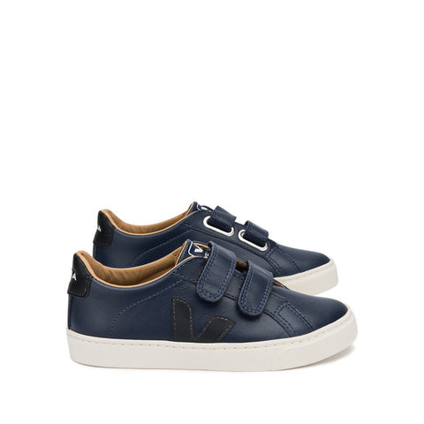 Esplar Velcro Leather Lined Nautico Black