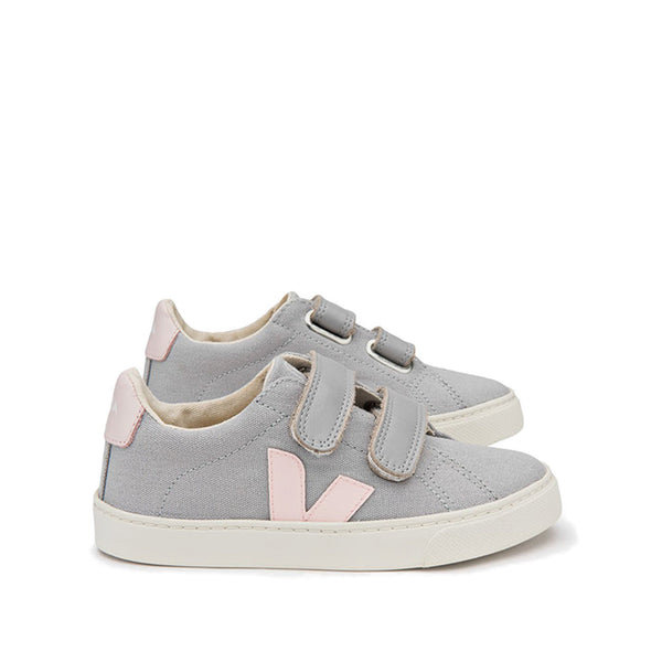 Esplar Velcro Canvas Oxford Grey Petale