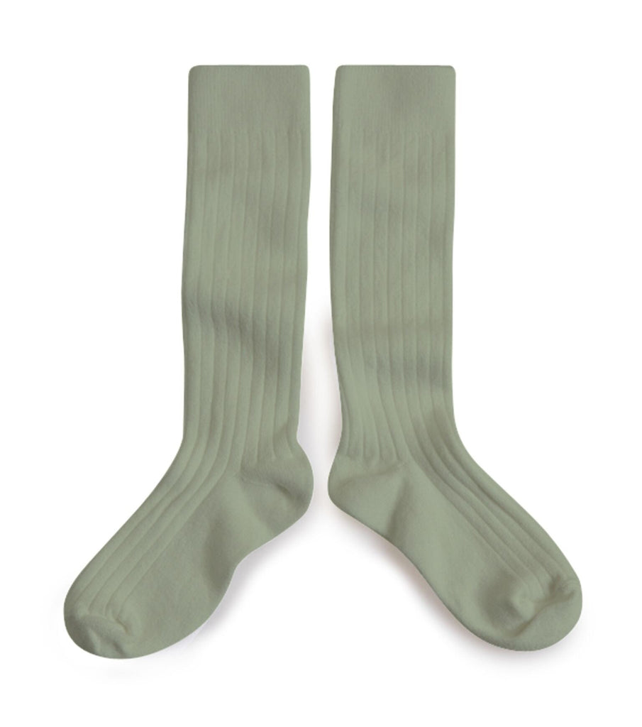Ribbed Knee High Socks - Safari