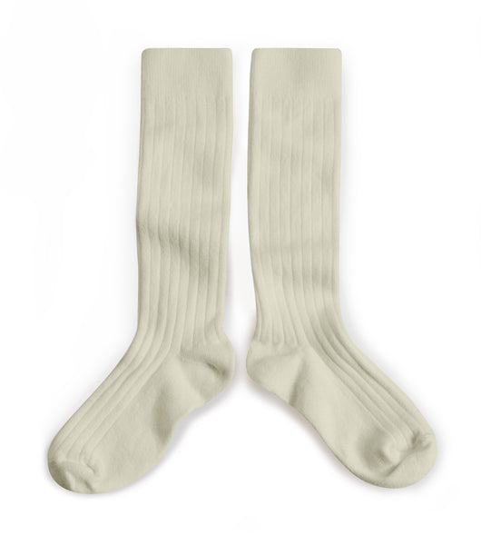 Ribbed Knee High Socks - Doux Agneaux