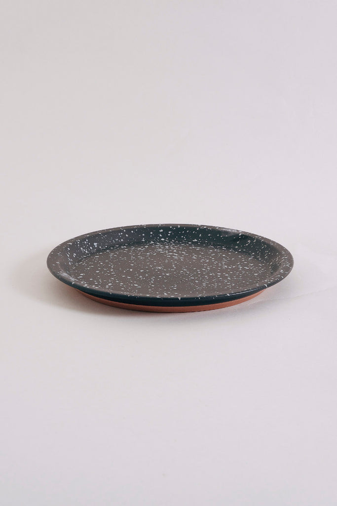Chips Dinner Plate - Black Speckled
