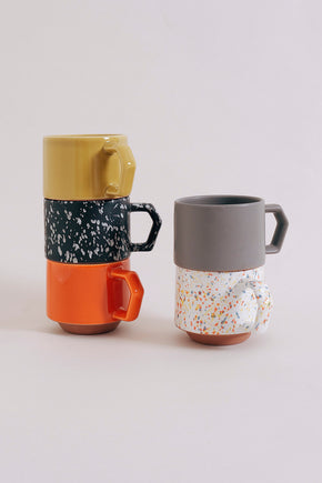 Chips Stacking Mug - Speckled White