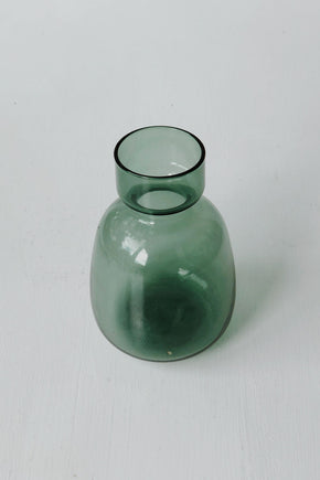 Japanese Green Glass Vase - Small