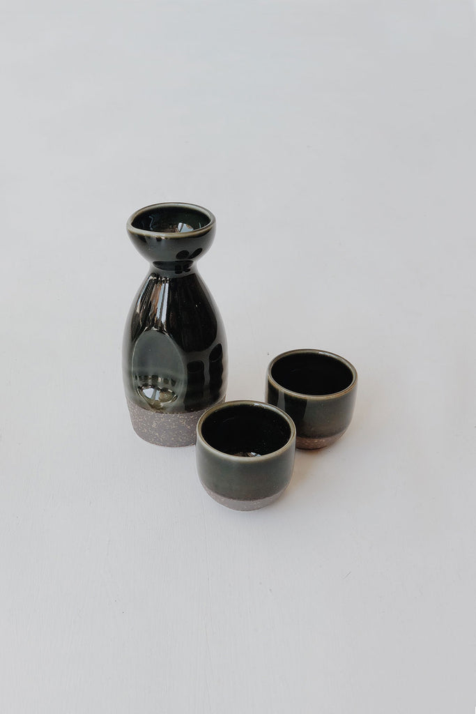 Japanese Saké Set - Forest Green
