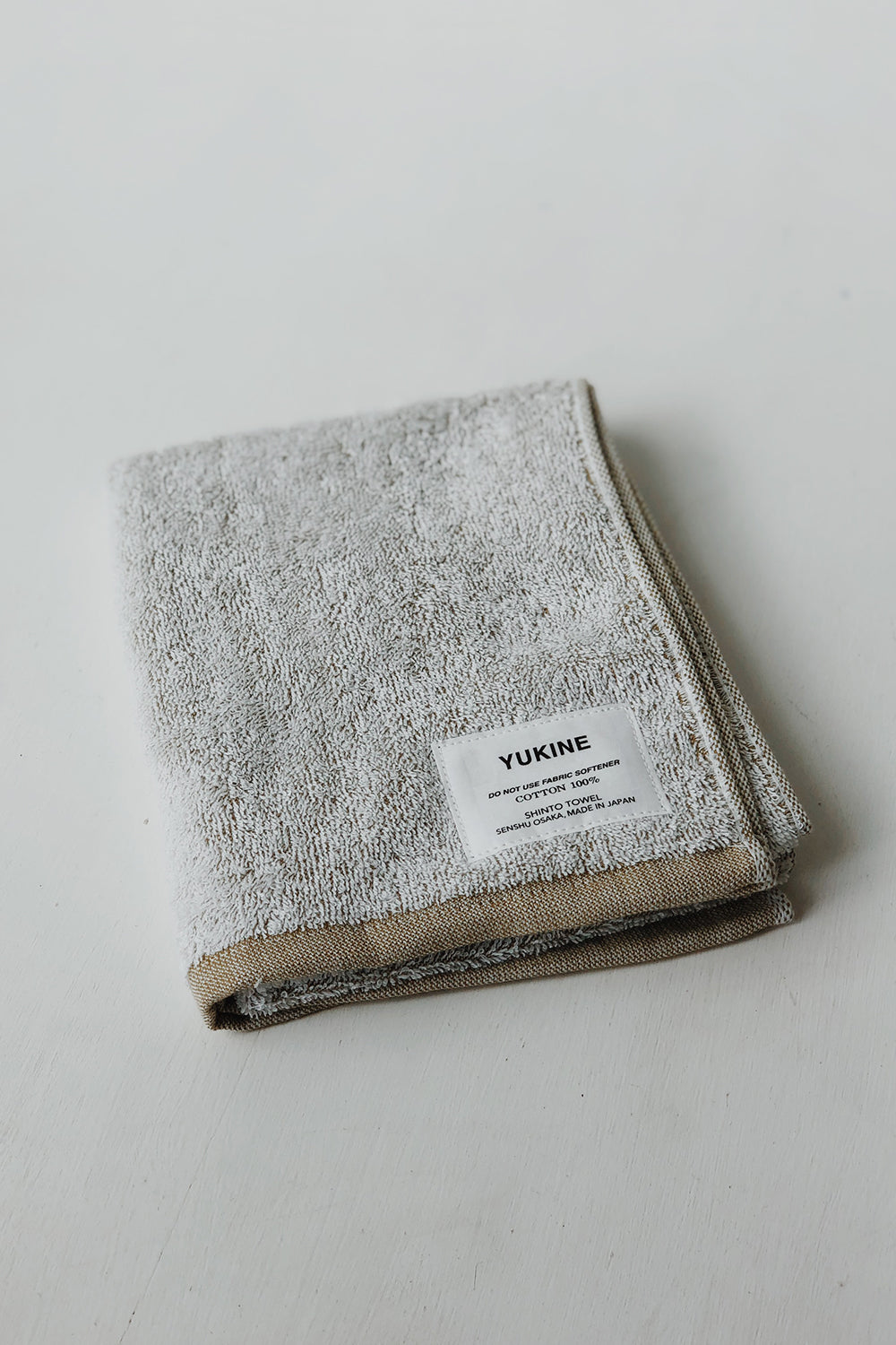 Organic Cotton Shinto Yukine Face Towel - Mustard