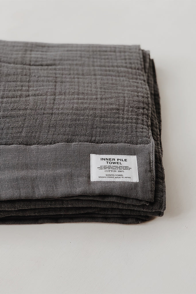 Shinto Inner Pile Towel - Charcoal