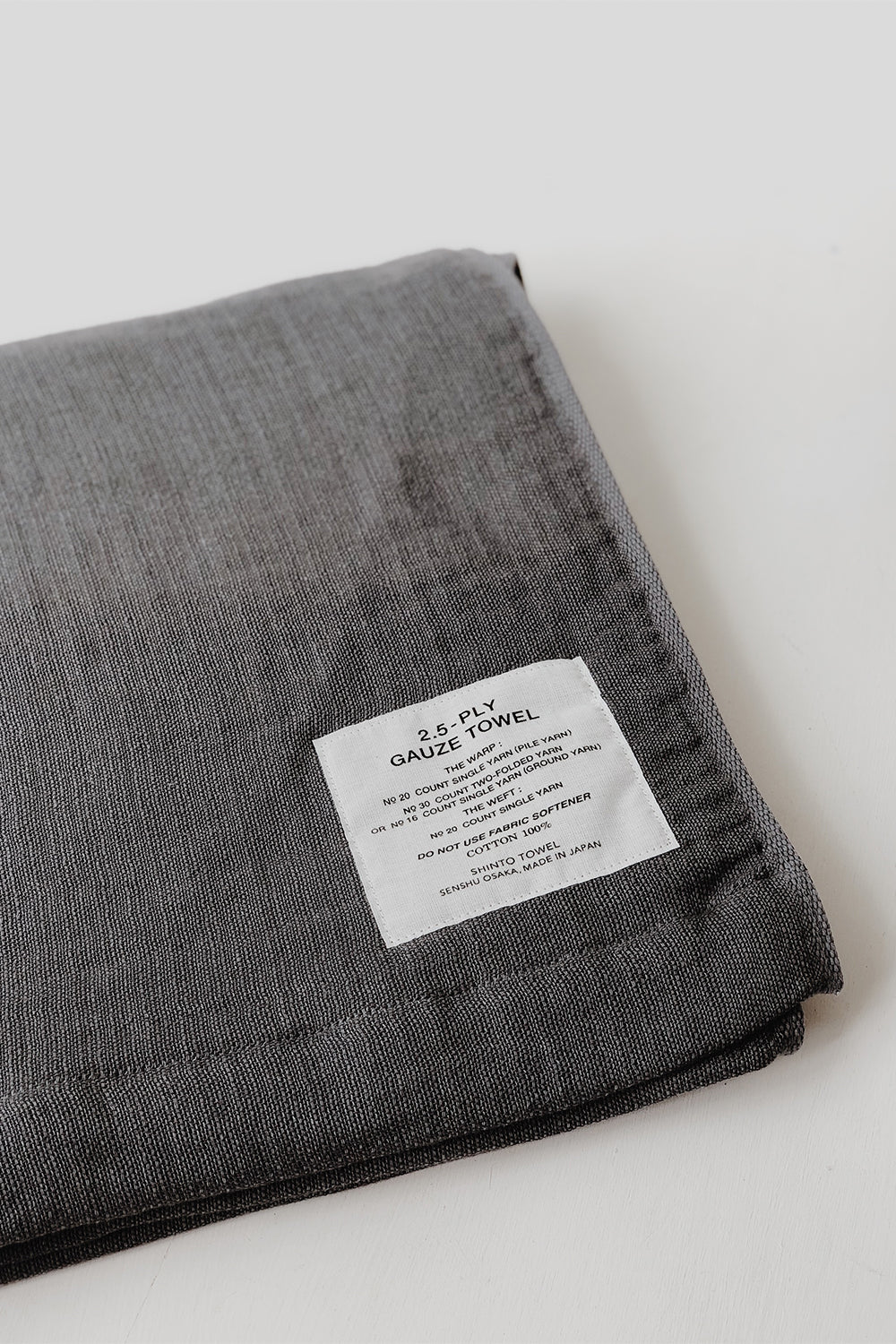 Shinto 2.5 Gauze Hand Towel - Charcoal