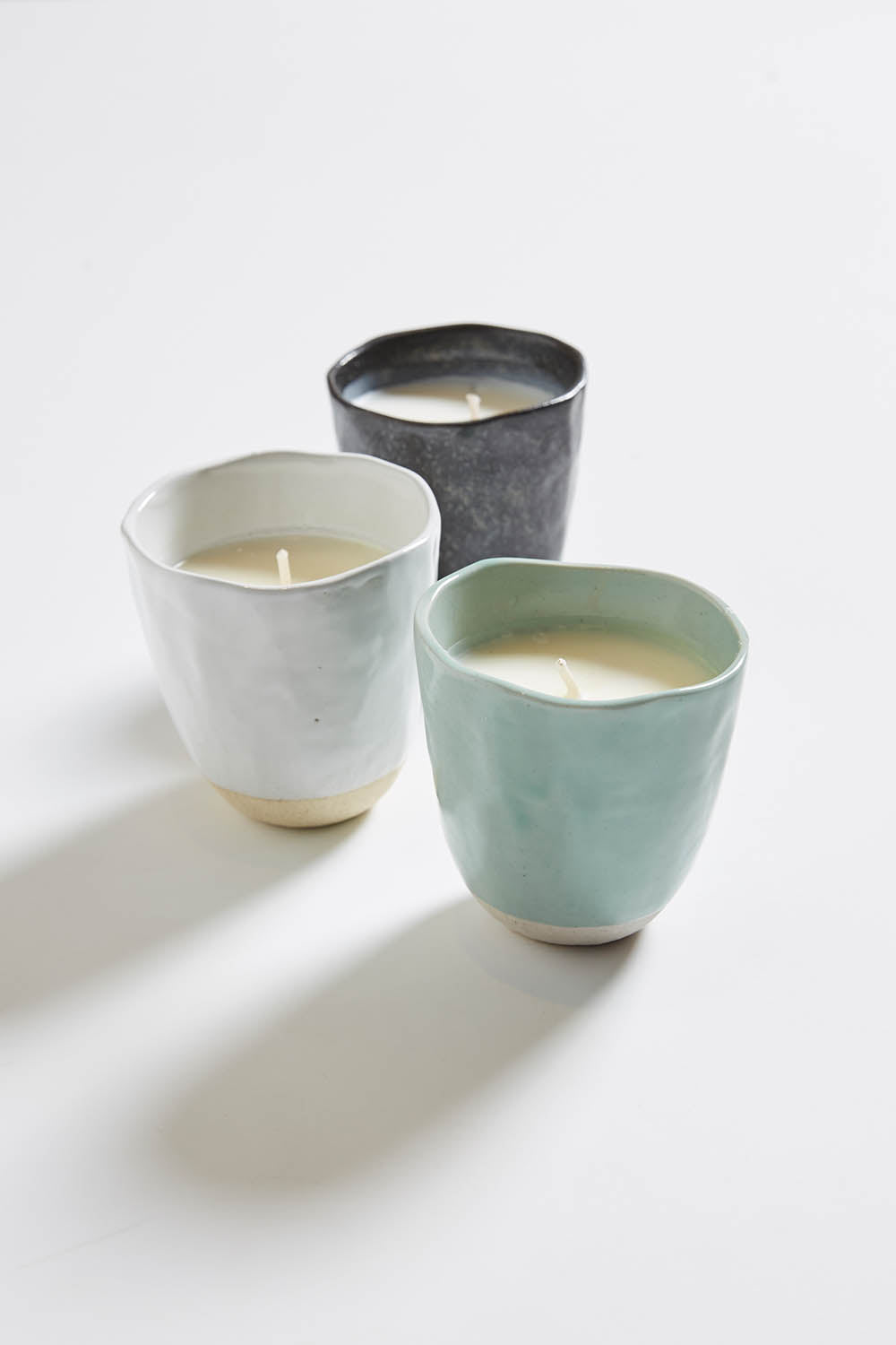 Japanese Stoneware Candle - Charcoal