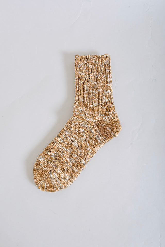 Low Gauge Slub Sock – Mustard