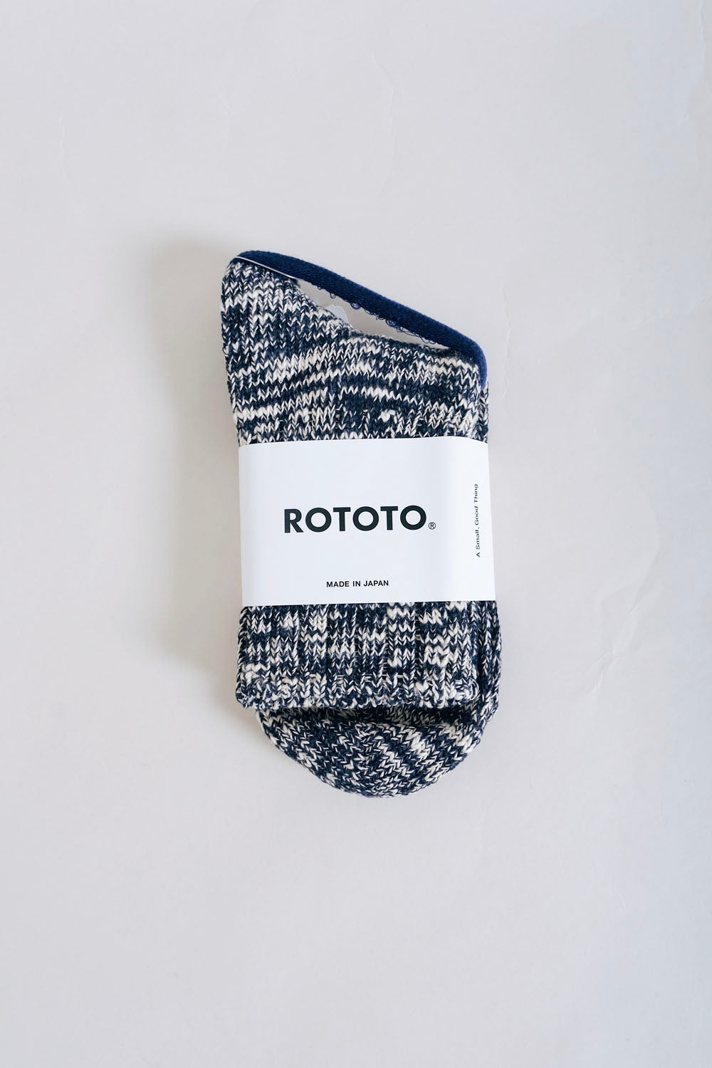 Low Gauge Slub Sock – Navy