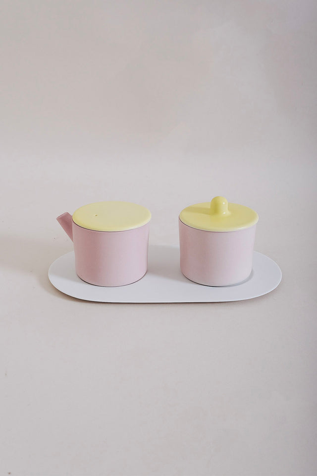 1616 Arita S&B Milk & Sugar Can – Pink/Yellow
