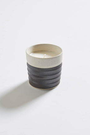 Japanese Tōki Candle - Black/White
