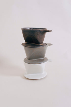 Ancient Pottery Coffee Dripper - Grey