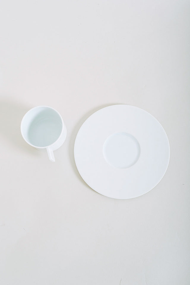 1616 Arita Coffee Cup + Saucer – White