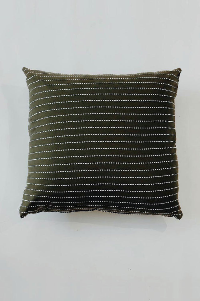 Japanese Dobby Cushion - Khaki Green
