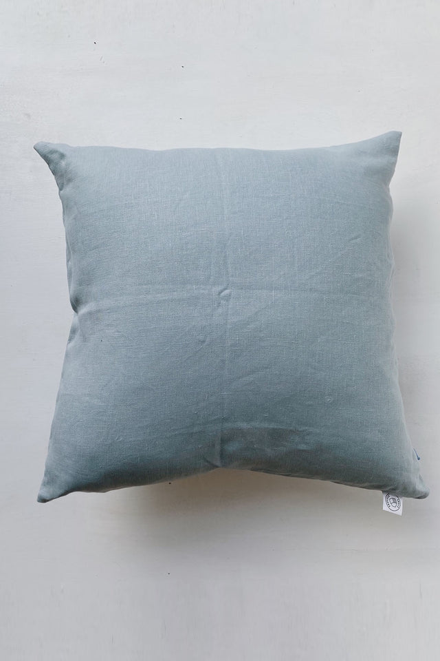 Linen Cushion - Duck Egg Blue
