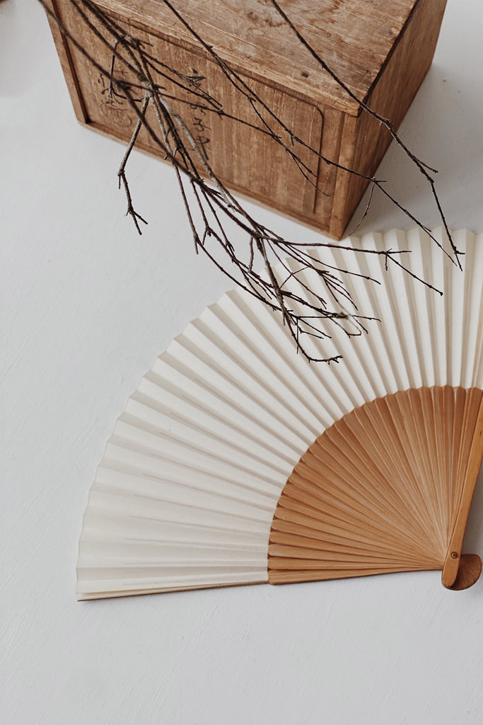 Antique Japanese Washi Fan