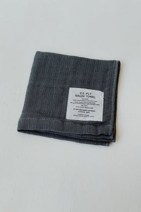 Organic Cotton Shinto 2.5 Gauze Washcloth - Charcoal