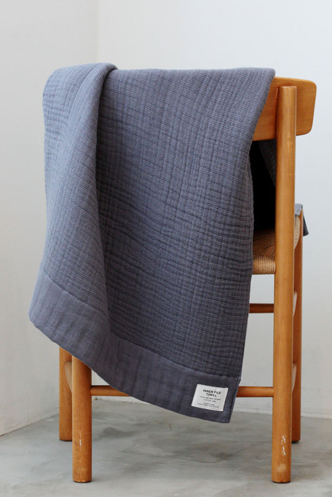 Organic Cotton Inner Pile Hand Towel - Navy