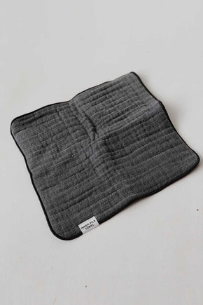 Organic Cotton Shinto Inner Pile Face Towel - Charcoal