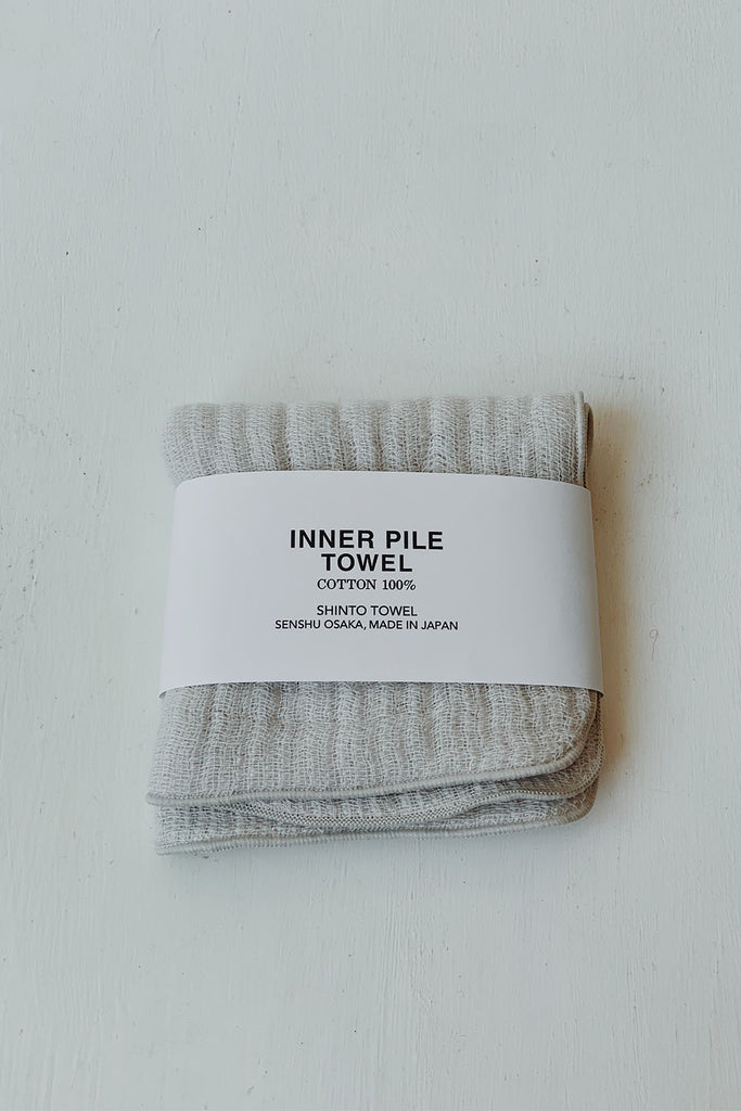 Shinto Inner Pile Face Towel - Beige
