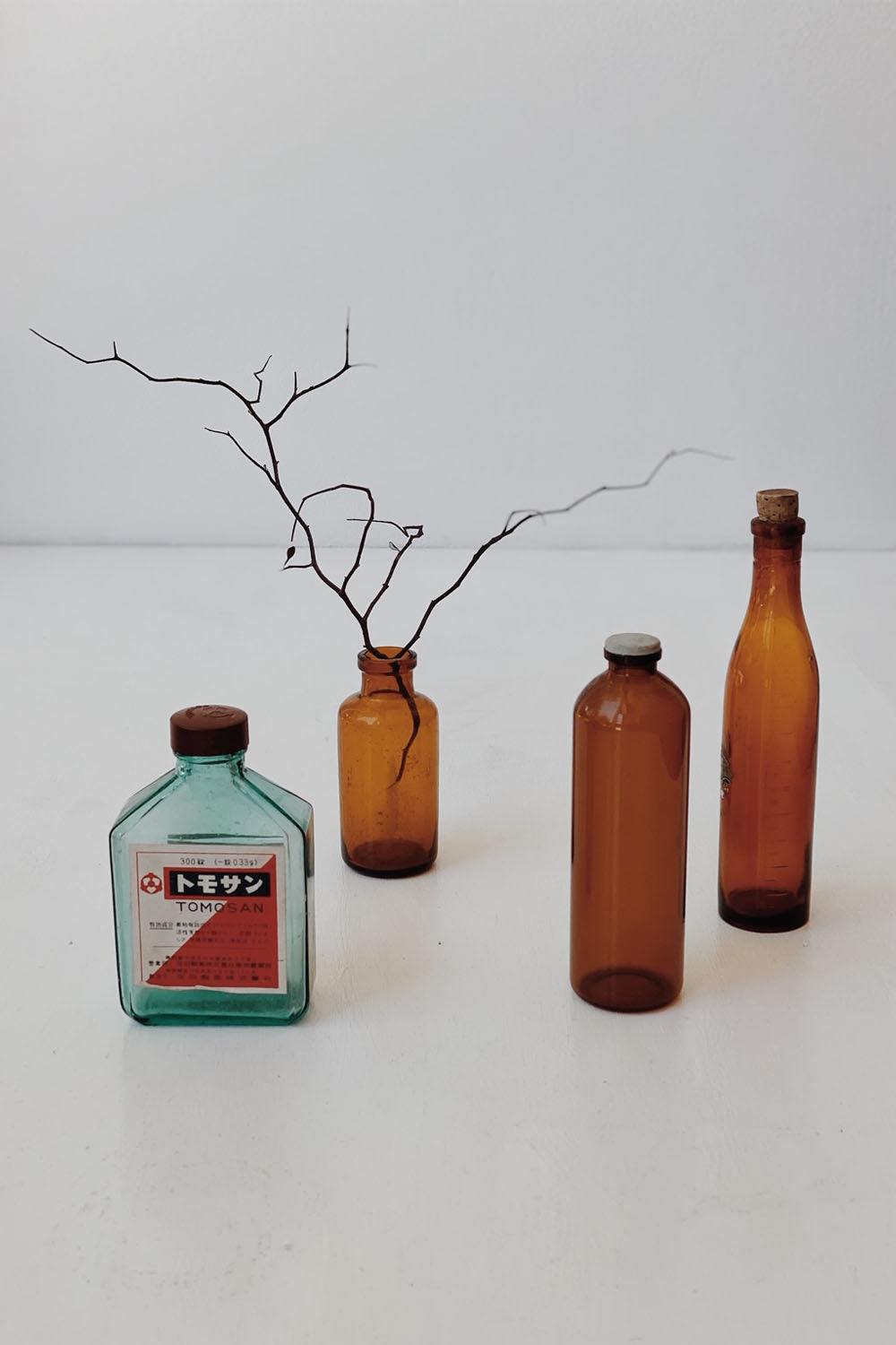Japanese Little Antique Apothecary Bottle