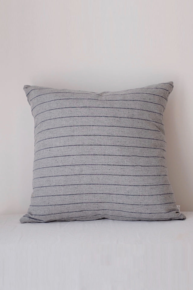 Japanese Linen Cushion - Grey