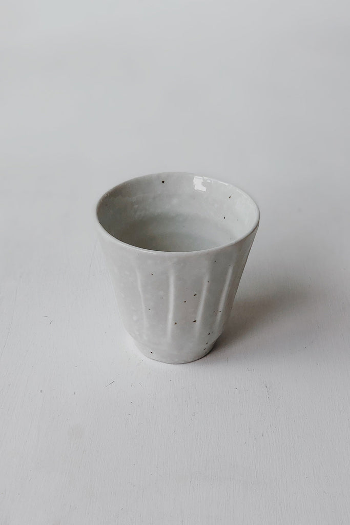 Japanese Ceramic Cup - White