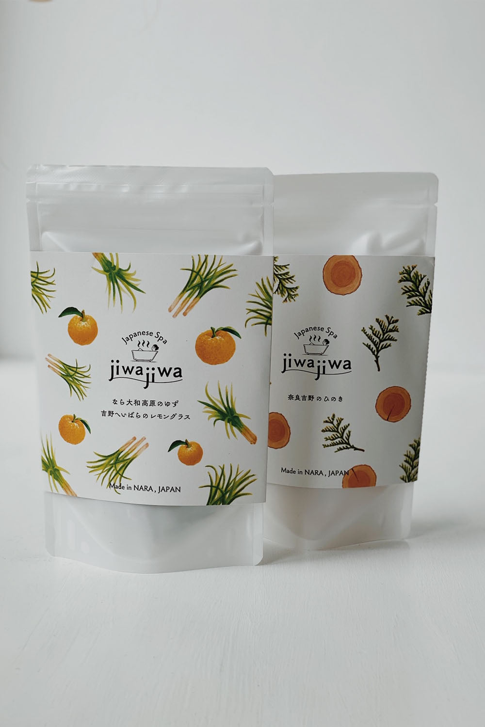 JiwaJiwa Bath Herb - Yuzu and Lemongrass - 3 Piece
