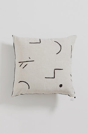 HAND PAINTED: Merra Linen Cushion