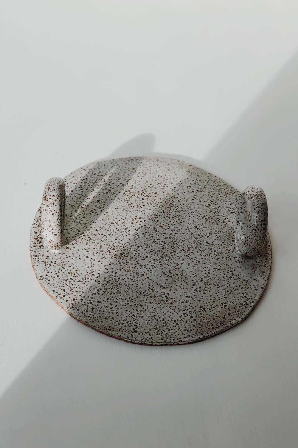 Speckled Ceramic Platter by Gretel