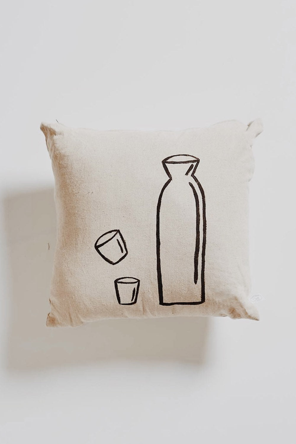 HAND PAINTED: Linen Sake Cushion