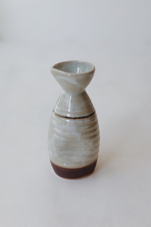 Large Japanese Saké Pourer - White