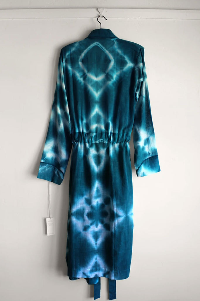 Shibori Emerald Robe by Aneau