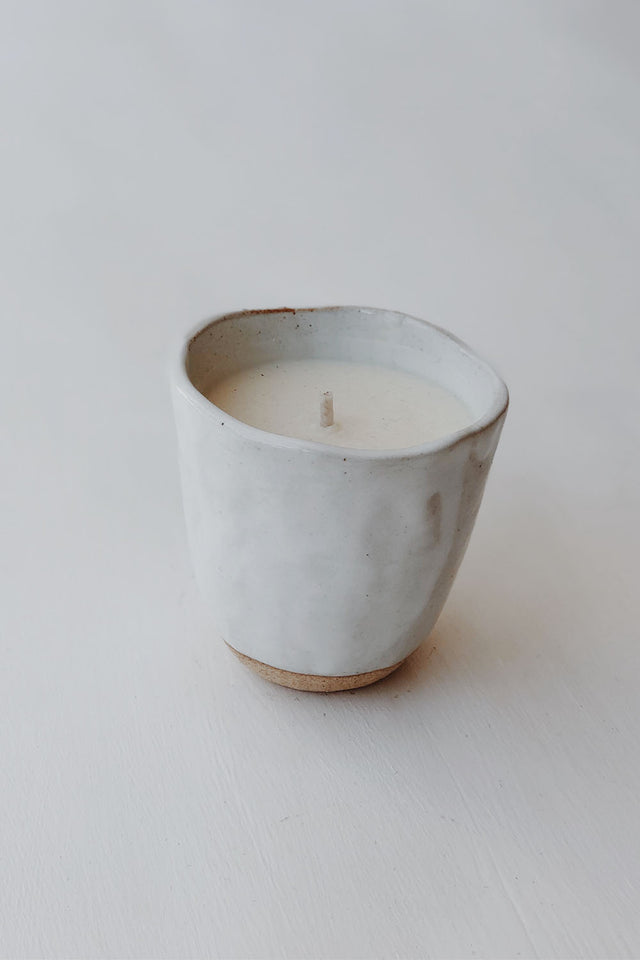 Japanese Stoneware Candle - Cream