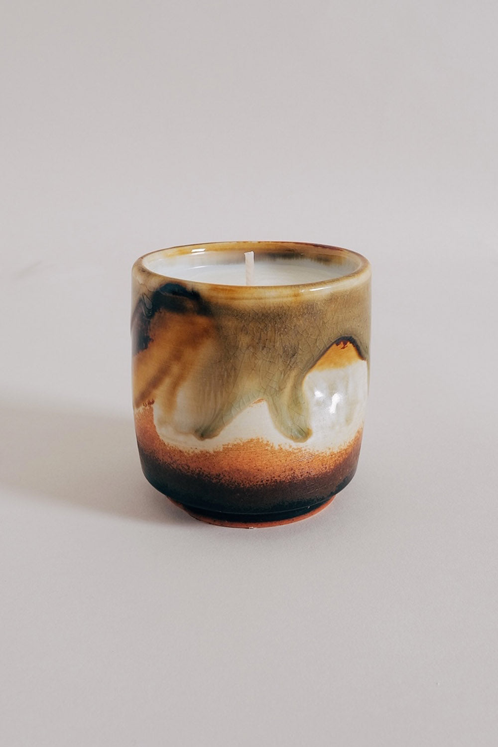 Teak Pinch Cup Candle