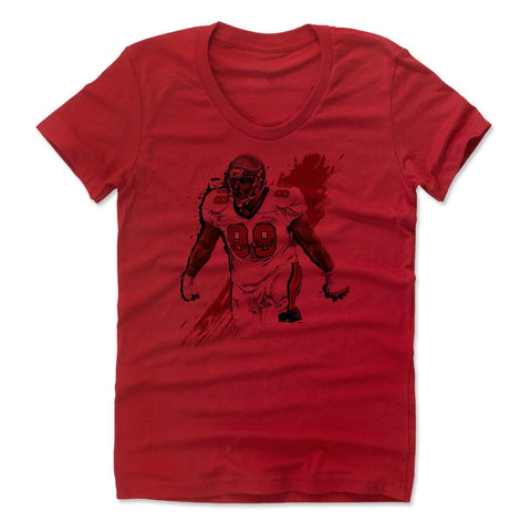 Womens Women's Scoop Neck Red