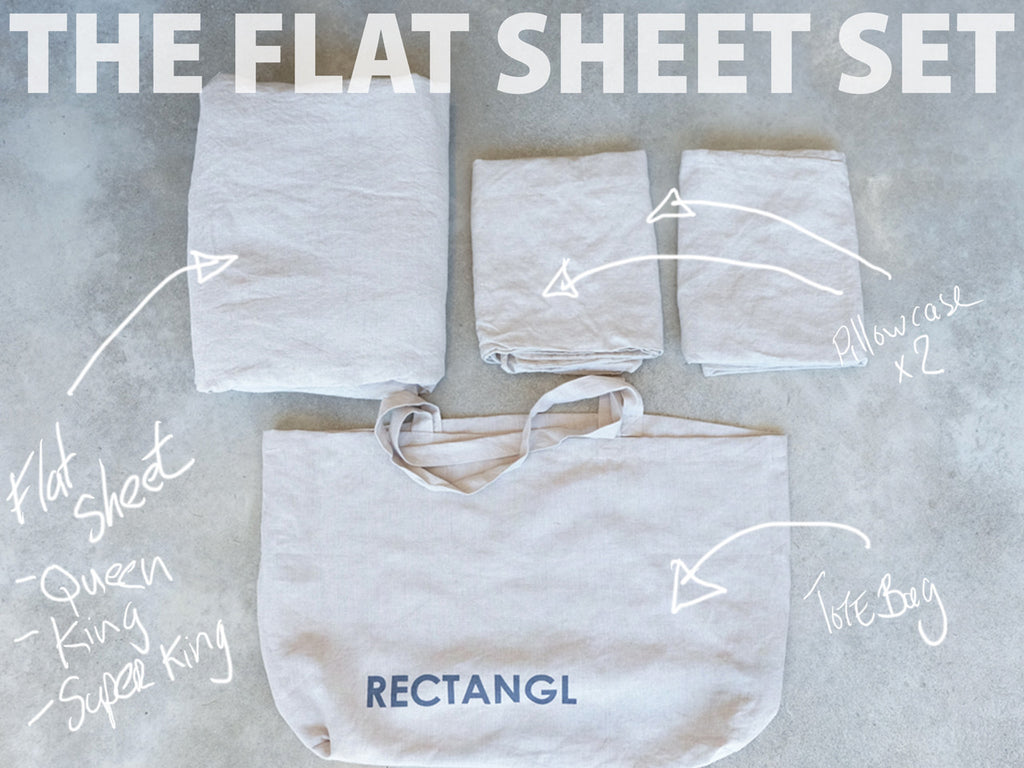 RECTANGL.co| Natural Flat Sheet Set 100% Linen - -Flat Sheet Set - 1