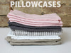 RECTANGL.co| Grey Stripe Pillowcases 100% Linen - -pillowcases - 2