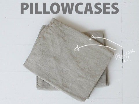 Natural Pillowcases 100% Linen