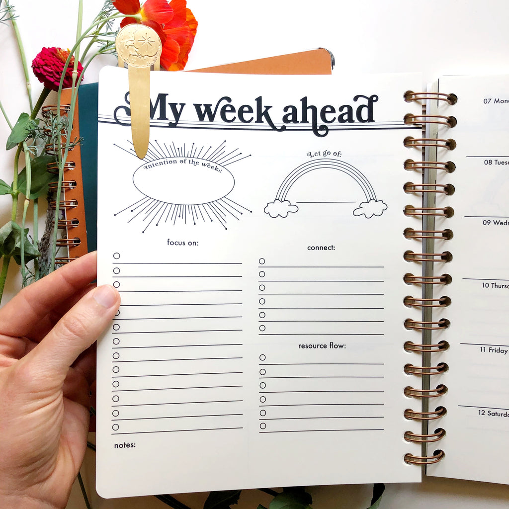 my week ahead page
