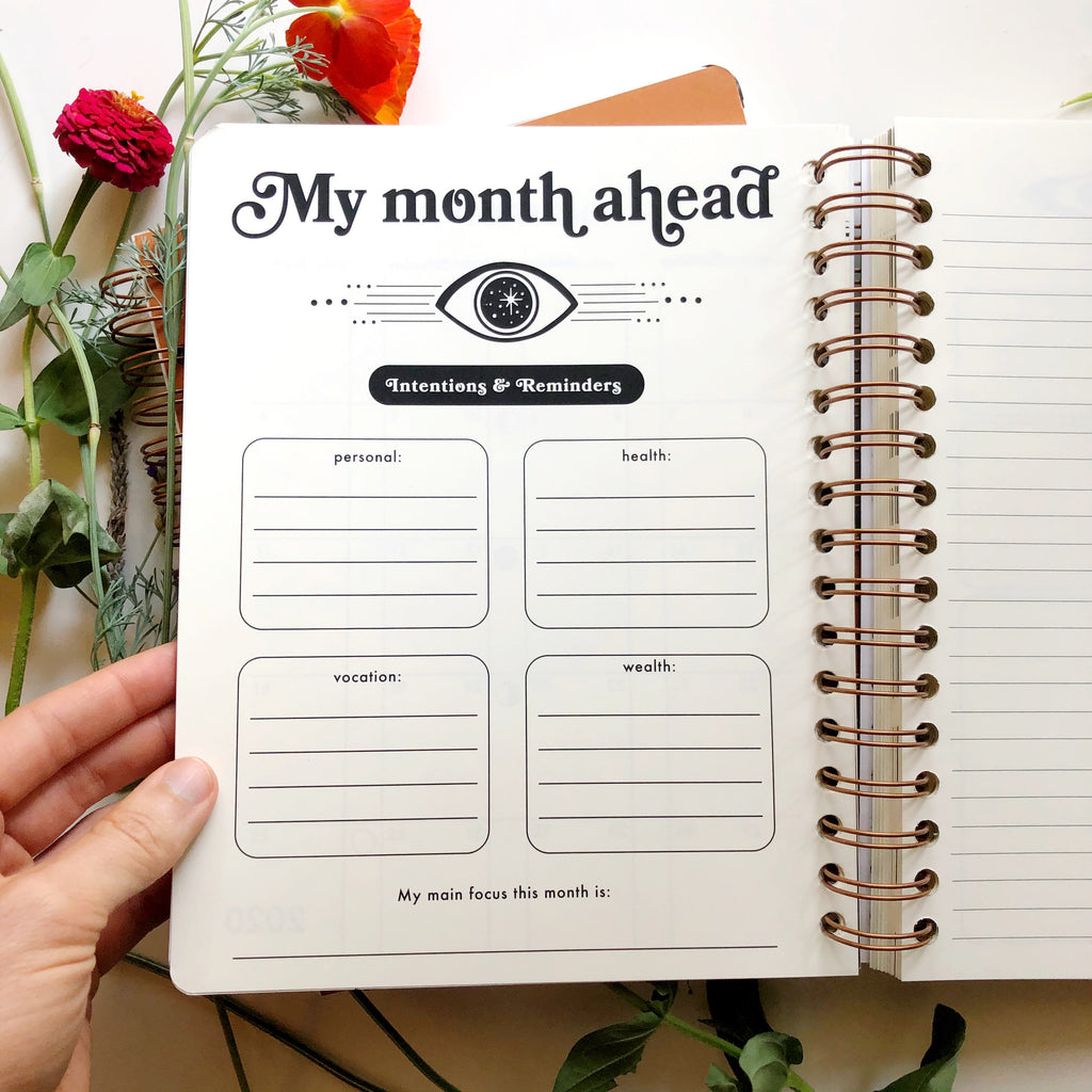 my month ahead page