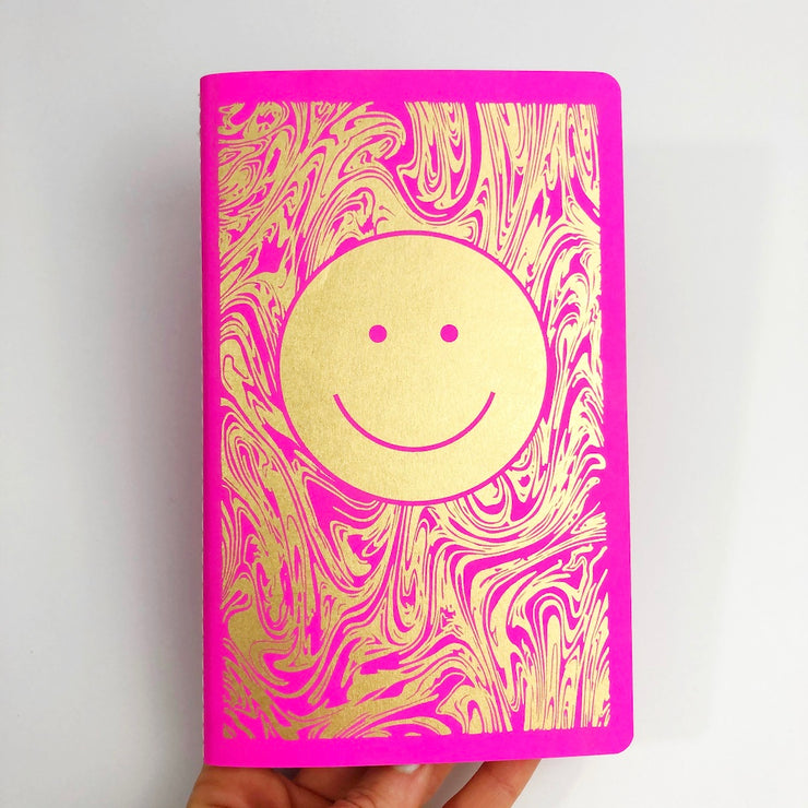 Smiley Dot Grid Notebook