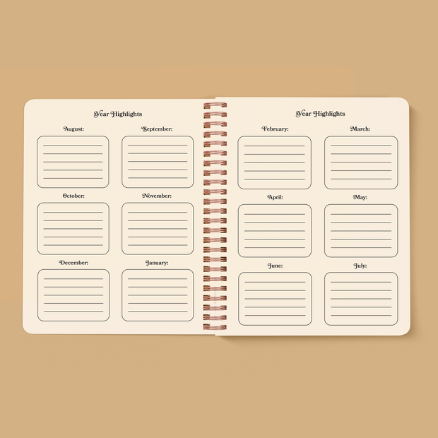Moon Face Open-Dated 12 Month Planner